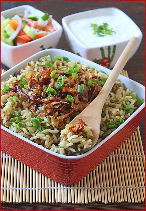 мжаддара блюдо восточной кухни
